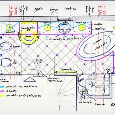 (1) aranżacja łazienki-rzut